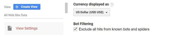 Google Analytics Bot Filtering