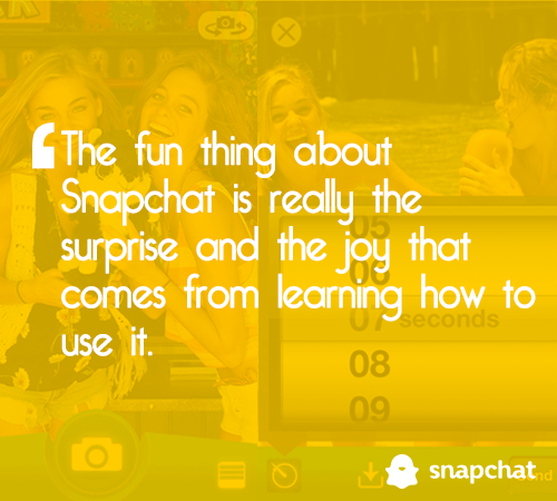 snapchat for business marketing quote