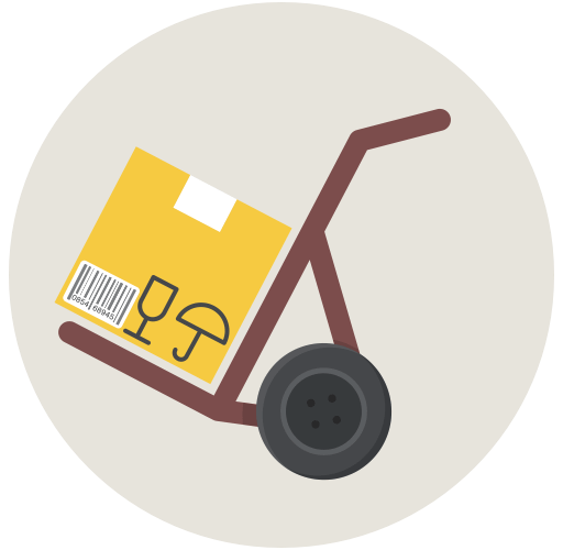 delivery trolley, setting up eCommerce shipping rates