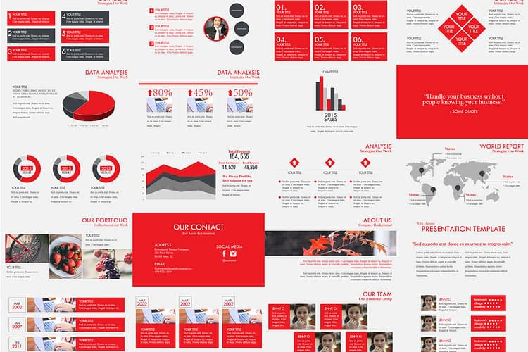 A modern and simple powerpoint presentation template previewt