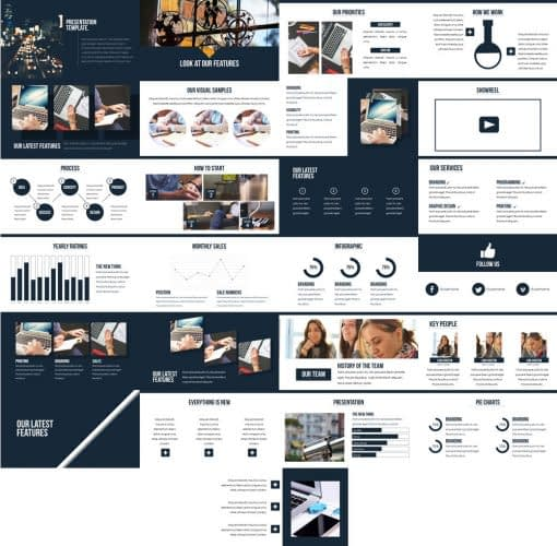 professional presentation powerpoint template