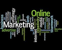 internet marketing, word cloud concept 9