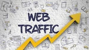 Web traffic infographic