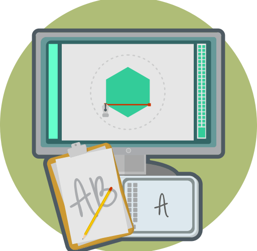 computer monitor graphic design